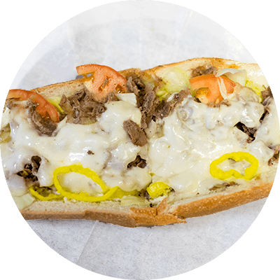 Cheesesteak* (beef or chicken)