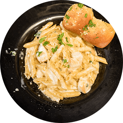 PENNE ALFREDO WITH CHICKEN | Large