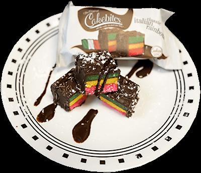 Italian Rainbow Cake Bites